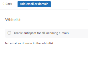 spam folder, whitelist: step 3