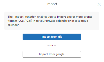 import data account, calendar events: step 3