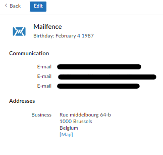 reset email address: step 3