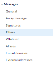 blacklist a specific sender address: step 2