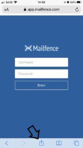 mailfence app bookmark option