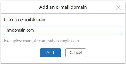 custom domain based address