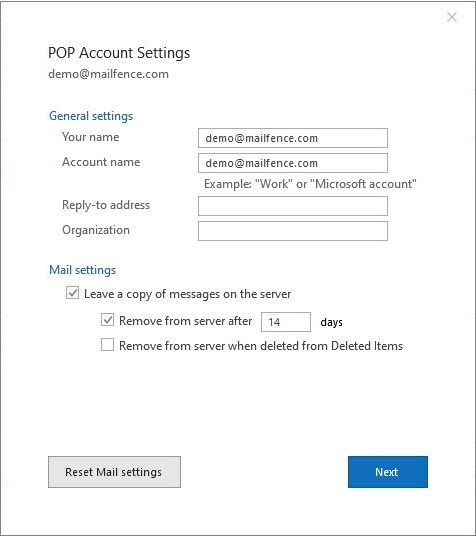 Mailfence_Outlook_POP