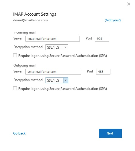 Mailfence_Outlook_IMAP
