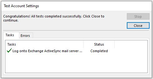 How to connect Mailfence using Exchange Activesync