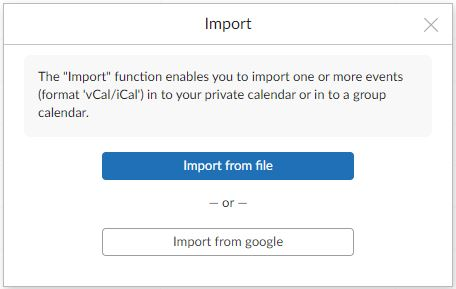 How to migrate calendar to Mailfence