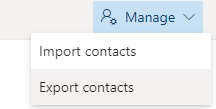 Migrate contacts to Mailfence export from outlook